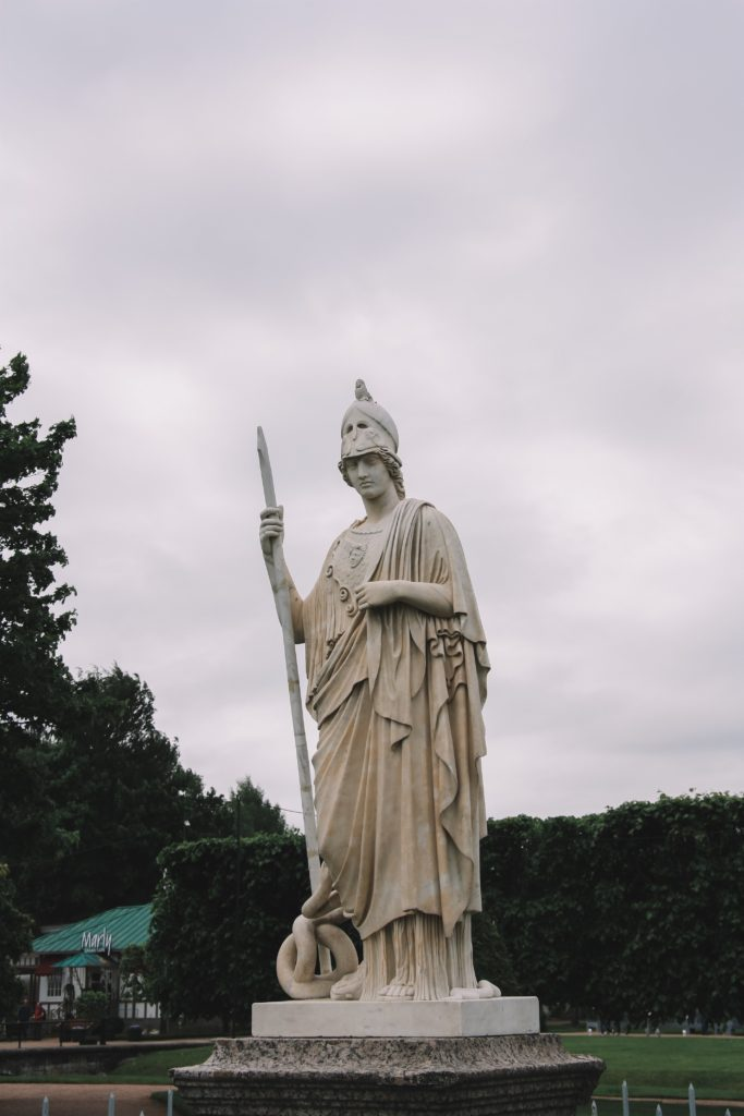 Statue of Athena, Goddess of Battle Strategy and Domestic Arts