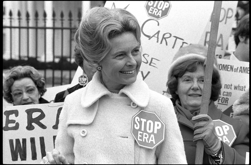 Phyllis Schlafly led the fight against ERA and a stylish Athena