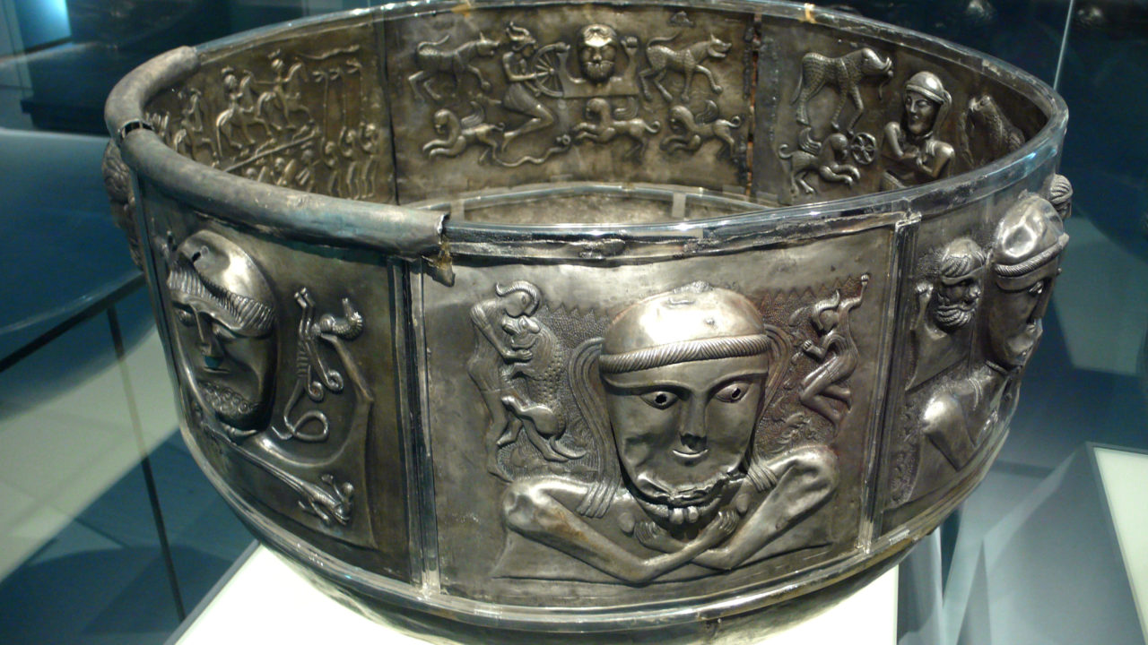 Celtic Silver Caulderon
