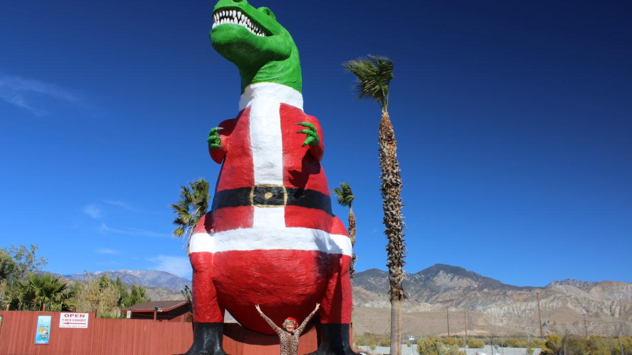 Mr. Rex painted with a Santa suit 2020