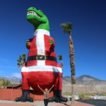 Mr. Rex painted with a Santa suit 2020