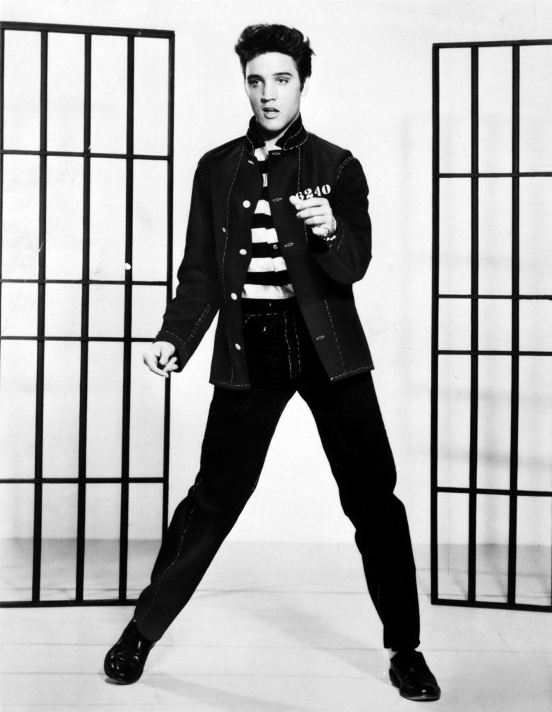1957 picture of Elvis Presley
