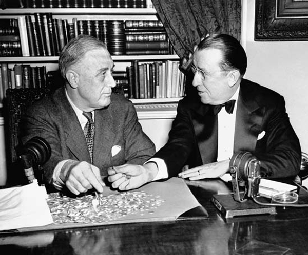 FDR and O'Connor with March of Dimes