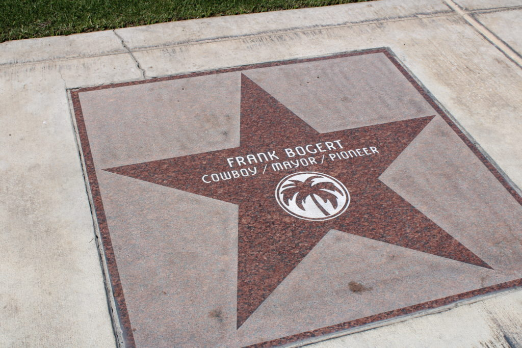 Star of Frank Bogert on Palm Canyon Drive
