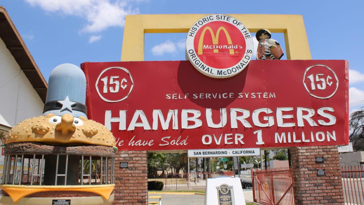 San Bernardino McDonald's sign