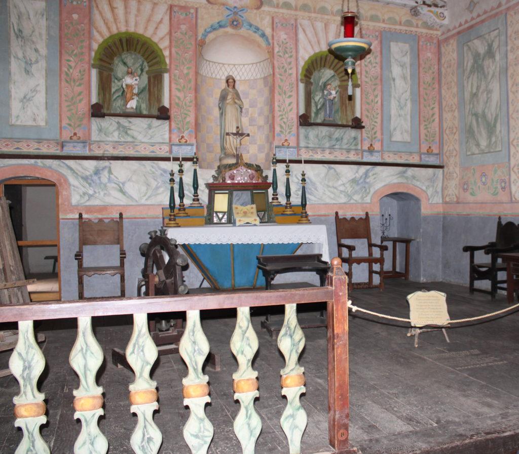 Interior of church at La Purisima Mission