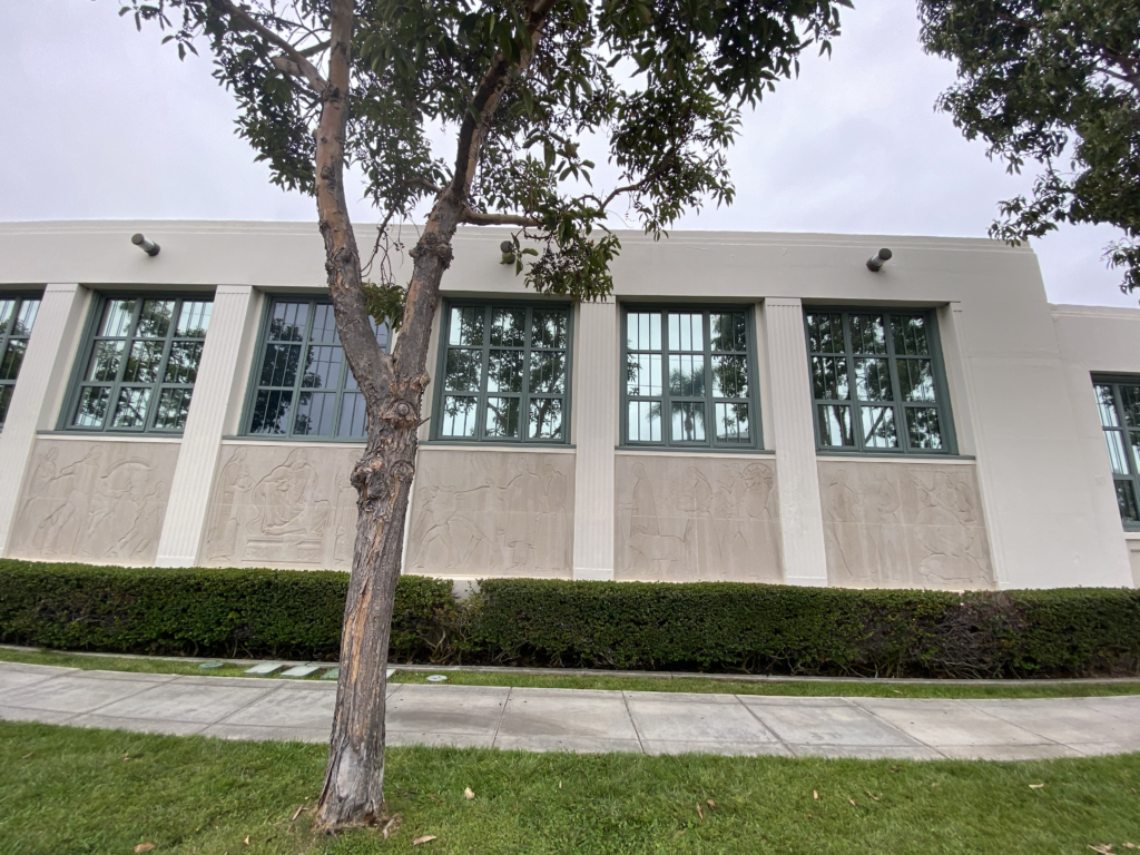 Coronado High School W.P.A. building with mural