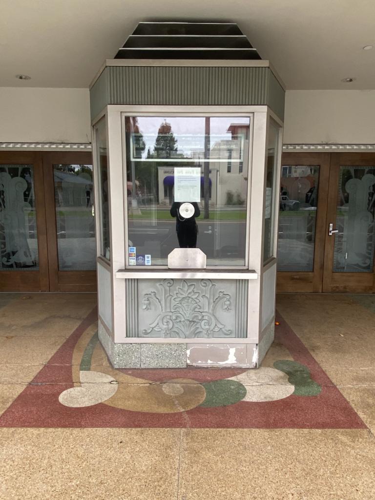 Village Theater Art Deco ticket box , flooring and doors