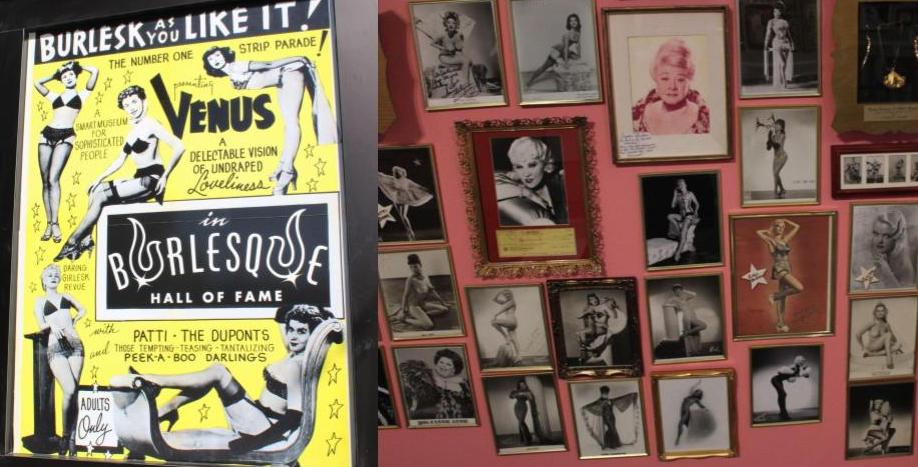 Poster and photos at Burlesque Hall of Fame