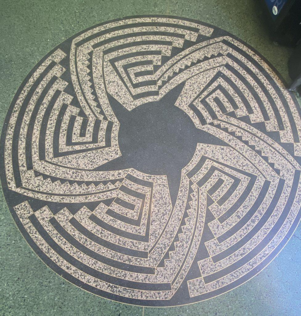 Terrazzo floor with Southwest Indian desgin.