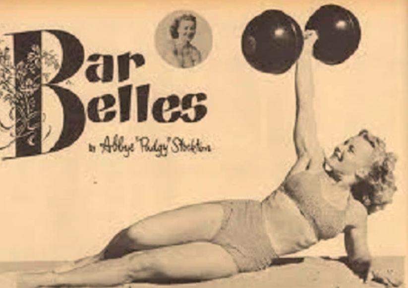 Magazine image of Pudgy and her Bar Belle column