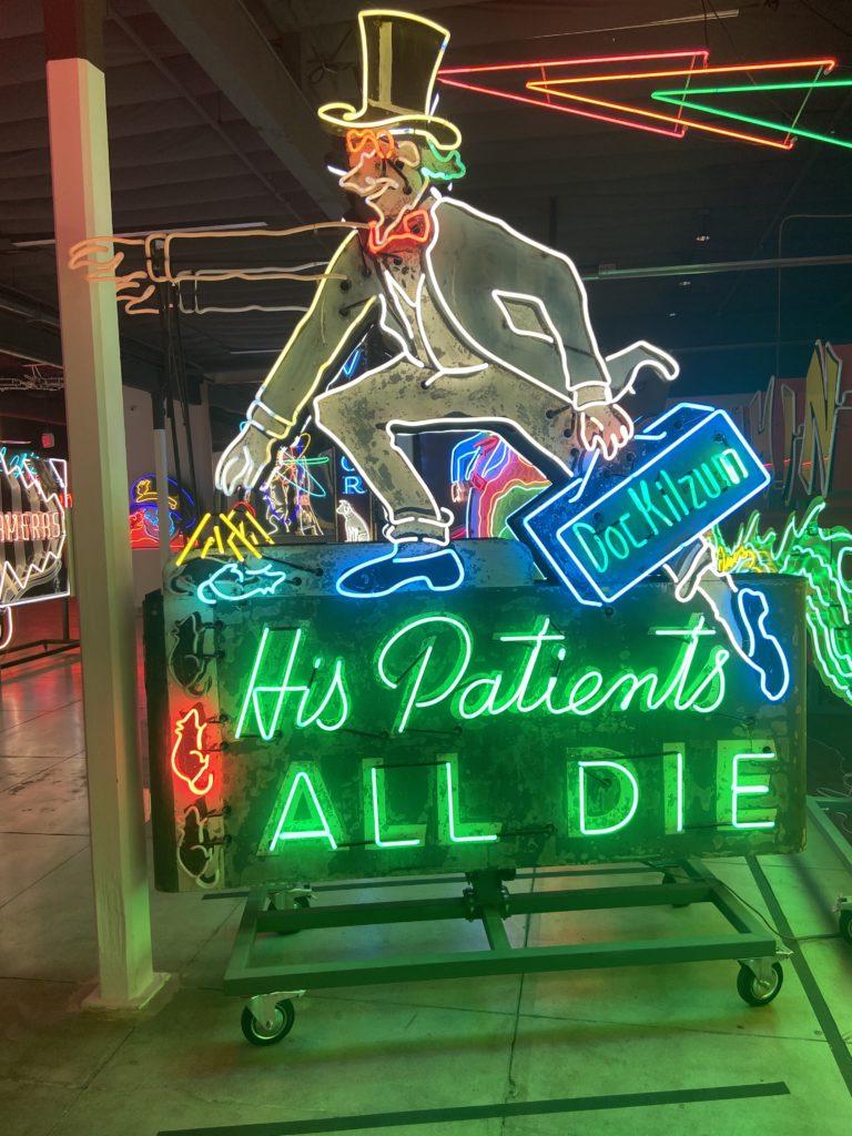 Doc Kilzum neon sign