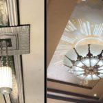 art deco pendant lighting in WPA buildings