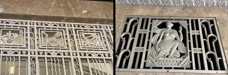 Decorative grillework at Risk Museum/Nashville Post Office