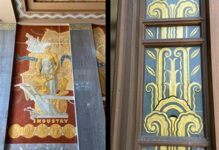 Murals and paintings at the Davidson Country Courthouse
