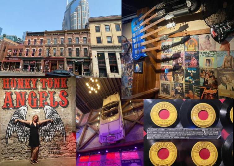 Historic buildings, neon signs and music decor--Broadway in Music City