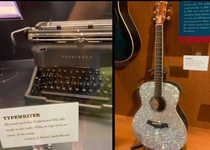 Harlan Howard's typewriter and Taylor Swift's guitar are a few of the many treasures at the CMHF. (KimberlyUs)