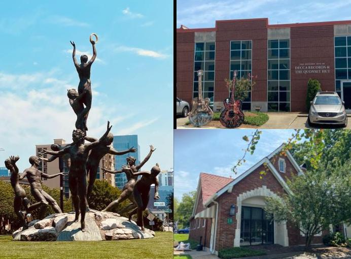 Musica is the largest bronze group statue in the U.S. Decca Records (above) and Tree Publishing. (KimberlyUs)