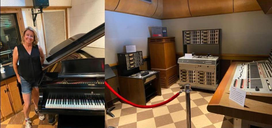 The piano and mixing room at Studio B are where Elvis Presley recorded more than 200 hits. (KimberlyUs)