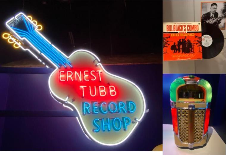 Ernest Tubb was the first record shop in Nashville. B.B. Kings display and vintage jukebox. (KimberlyUs)